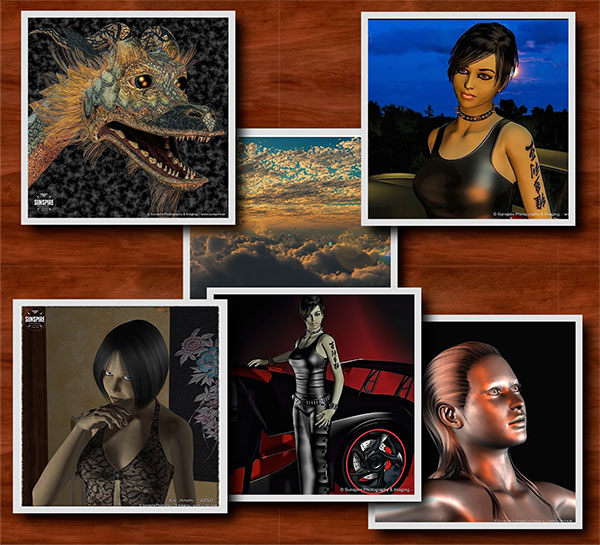 3d bildexempel collage